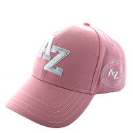 VM743 Arizona State Velcro Cap (Solid Light Pink)