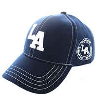 VM743 Los Angeles City Velcro Cap (Solid Navy)