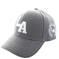 VM743 Los Angeles City Velcro Cap (Solid Light Grey)