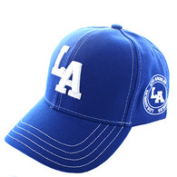 VM743 Los Angeles City Velcro Cap (Solid Royal)