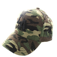 VM743 Los Angeles City Velcro Cap (Solid Military Camo)