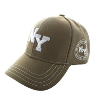 VM743 New York City Velcro Cap (Solid Khaki)