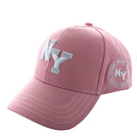VM743 New York City Velcro Cap (Solid Light Pink)