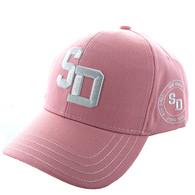 VM743 San Diego City Velcro Cap (Solid Light Pink)