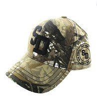 VM743 San Diego City Velcro Cap (Solid Hunting Camo)