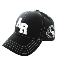 VM743 Arkansas State Velcro Cap (Solid Black)