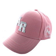 VM743 Arkansas State Velcro Cap (Solid Light Pink)