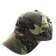 VM743 Arkansas State Velcro Cap (Solid Military Camo)
