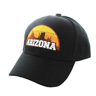 VM720 Arizona State Velcro Cap (Solid Black)