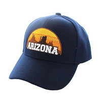 VM720 Arizona State Velcro Cap (Solid Navy)