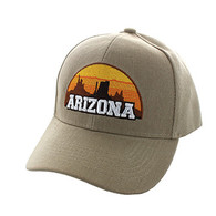 VM720 Arizona State Velcro Cap (Solid Khaki)