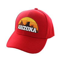 VM720 Arizona State Velcro Cap (Solid Red)