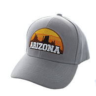 VM720 Arizona State Velcro Cap (Solid Light Grey)