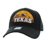 VM720 Texas State Velcro Cap (Solid Black)
