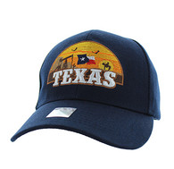 VM720 Texas State Velcro Cap (Solid Navy)