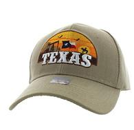 VM720 Texas State Velcro Cap (Solid Khaki)