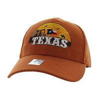 VM720 Texas State Velcro Cap (Solid Texas Orange)