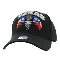 VM273 Texas State Velcro Cap (Solid Black)