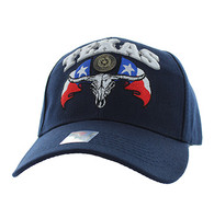 VM273 Texas State Velcro Cap (Solid Navy)