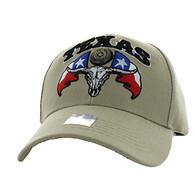 VM273 Texas State Velcro Cap (Solid Khaki)