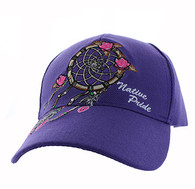 VM635 Dream Catcher Velcro Cap (Solid Purple)