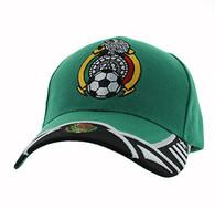 VM421 Mexico Soccer Velcro Cap (Kelly Green & Black)