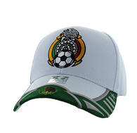 VM421 Mexico Soccer Velcro Cap (White & Kelly Green)