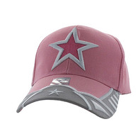 VM421 Big Star Velcro Cap (Light Pink & Light Grey)