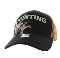 VM520 Hunting Duck Velcro Cap (Black & Orange Camo)