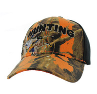 VM520 Hunting Duck Velcro Cap (Orange Camo & Black)