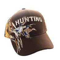 VM520 Hunting Duck Velcro Cap (Brown & Orange Camo)