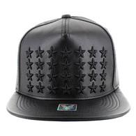 SM772 Big Star PU Snapback (Black & Black)