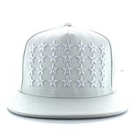 SM772 Big Star PU Snapback (White & White)