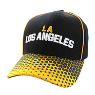 VM748 Los Angeles Cotton Velcro Cap (Black & Gold)