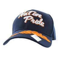 VM272 Native Pride Orange Leather Velcro Cap (Solid Navy)