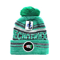 WB074 Hecho En Mexico Pom Pom Beanie (Kelly Green & Black)