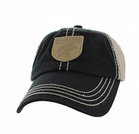 VM710 Fish Outdoor Sport Mesh Velcro Cap (Black & Khaki)