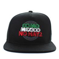 SM605 Mexico Cotton Snapback Cap (Black & Black)