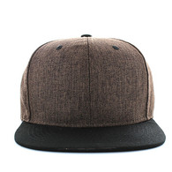 SP5419 Blank Cotton Snapback (Brown & Black)