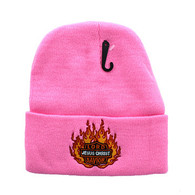 WB040 Jesus Flame Long Beanie (Solid Light Pink)