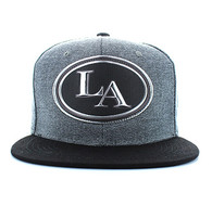 SM794 Los Angeles City Snapback (Charcoal Grey & Black)