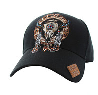 VM697 Native Pride Skull Velcro Cap (Solid Black)