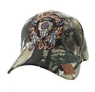 VM697 Native Pride Skull Velcro Cap (Solid Hunting Camo)
