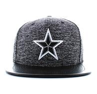 SM702 Big Star Snapback (Heather Grey & Black)