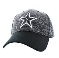 VM525 Big Star Baseball Cap (Heather Grey & Black)