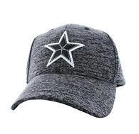 VM525 Big Star Baseball Cap (Heather Grey & Heather Grey)