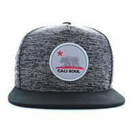 SM734 California Republic Snapback (Heather Grey & Black)