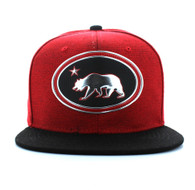 SM794 California Republic Snapback (Red & Black)