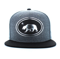 SM794 California Republic Snapback (Charcoal & Black)