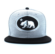 SM794 California Republic Snapback (White Grey & Black)